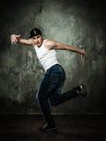 Young man break-dancer Royalty Free Stock Photos