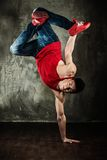 Young man break-dancer Royalty Free Stock Photos