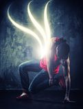 Young man break-dancer Royalty Free Stock Photography
