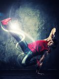 Young man break-dancer Stock Photo