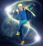 Young man break-dancer Royalty Free Stock Image