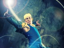 Young man break-dancer Stock Image