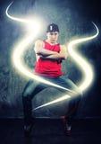 Young man break-dancer Stock Images