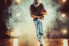 Young man break dancer royalty free stock photos