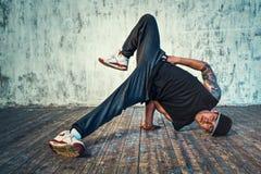 Young man break dancing Stock Photos