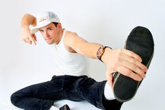Young man breakdancer Royalty Free Stock Photo