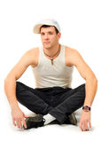 Young man breakdancer Stock Image