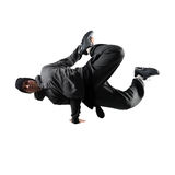 Young man breakdancing Royalty Free Stock Photos