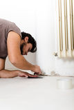 Young man bricolage working Stock Image