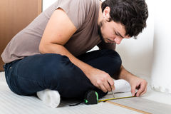 Young man bricolage working Stock Photography