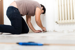 Young man bricolage working Stock Images