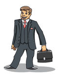 Young man with briefcase Royalty Free Stock Photography
