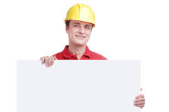 Young man builder Royalty Free Stock Photography