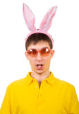 Young Man with Bunny Ears Stock Photography