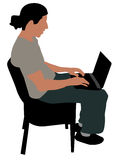 Young Man Busy With Laptop Royalty Free Stock Image