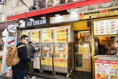 Young man buy ice cream at shop taken in Seoul South Korea Stock Photography
