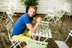 Young man in the cafe Royalty Free Stock Photos
