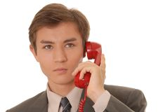 Young Man On Call 9 Royalty Free Stock Photos