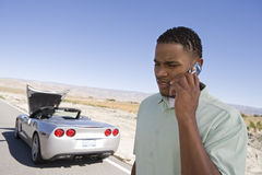 Young Man Calling For Help Royalty Free Stock Image