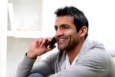Young man calling by phone Stock Photo