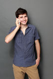 Young man calling by phone Royalty Free Stock Photo