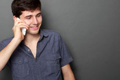 Young man calling by phone Royalty Free Stock Image