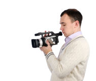 Young man with camera Royalty Free Stock Photos