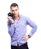 Young man with camera Royalty Free Stock Image