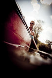 Young Man Canoeing Royalty Free Stock Image