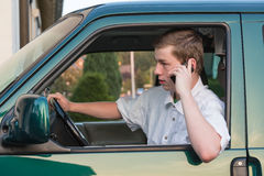 Young man in a car 4 Royalty Free Stock Photos