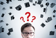 Young man and career choice Royalty Free Stock Photo