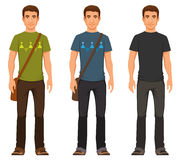 Young man in casual clothes Stock Image