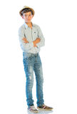 Young Man In Casual Clothes Royalty Free Stock Photography