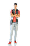 Young Man In Casual Clothes Isolated On White Royalty Free Stock Photos