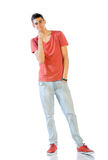 Young Man In Casual Clothes Isolated On White Royalty Free Stock Photo