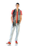 Young Man In Casual Clothes Isolated On White Stock Images