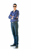 Young Man In Casual Clothes Isolated On White Stock Photo