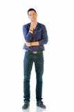 Young Man In Casual Clothes Isolated On White Stock Image