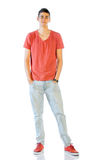 Young Man In Casual Clothes Isolated On White Royalty Free Stock Image