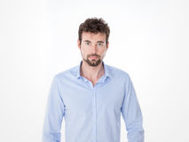 Young man in casual clothes posing Royalty Free Stock Photography