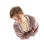 Young man in casual jacket looking up Royalty Free Stock Images