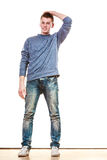 Young man casual style posing isolated Stock Photo