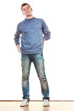 Young man casual style posing isolated Royalty Free Stock Photo