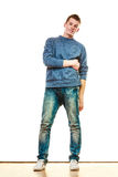 Young man casual style posing isolated Stock Images