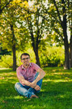Young man in causal style Royalty Free Stock Photography