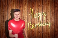 Young man celebrate happy birthday. Stock Photo