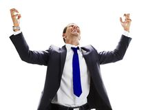 young man celebrating his success Royalty Free Stock Image