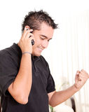 Young  man with cell Royalty Free Stock Images