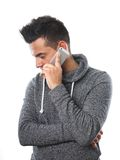 Young man with cell phone Royalty Free Stock Images