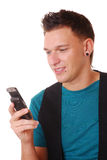 Young man with cellphone Royalty Free Stock Image